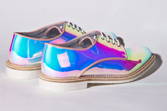 derbies shoes multi colored original holographic