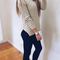 Turtleneck sweater with twist pattern|disheefashion