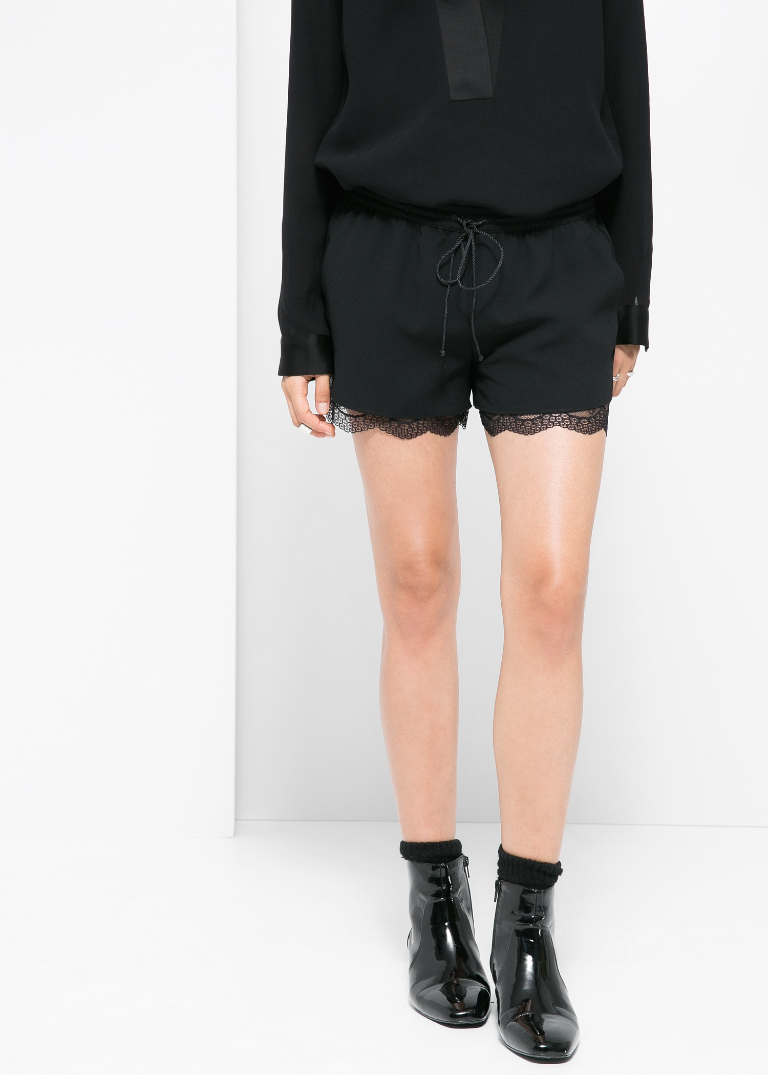 Lace lining shorts - Women | MANGO