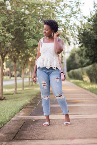 pinksole blogger jewels top jeans bag