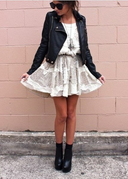 dress white dress jacket