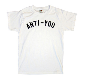 t-shirt anti you tee white black letters quote on it galentines day