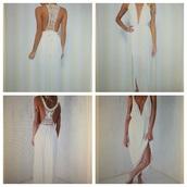 dress,crochet maxi dress,lowback dress