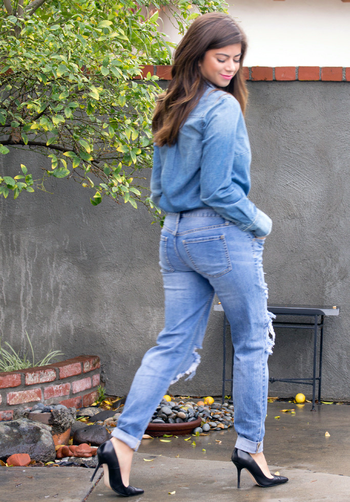 The big easy denim long sleeve top – luv mint