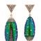 Scarab drop earrings