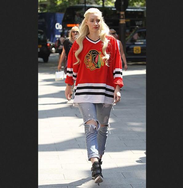 Shirt hockey jerseys chicago blackhawks blackhawks for Hawks t shirt jersey