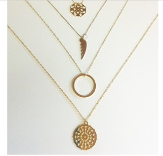 jewels jewelry necklace gold necklace