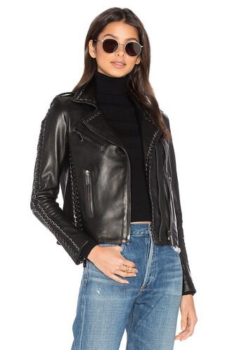 jacket vinyl black