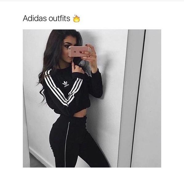 Shirt Longsleeve Crop Top Long Sleeves Cropped Adidas Adidas