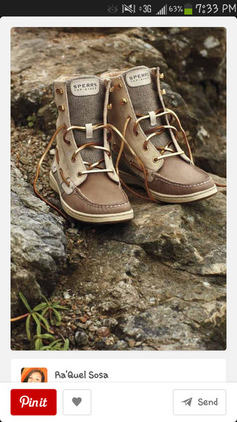 shoes brown shoes sperry high top sperrys sperry hiker fish