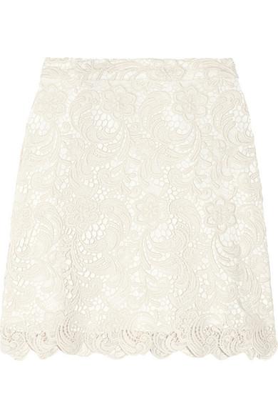 Alice   Olivia|Lucia cotton-blend lace mini skirt|NET-A-PORTER.COM
