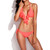 Neon Orange Full-Lined Ruffle Triangle Brazilian Bikini Set | Emprada