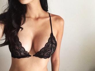 swimwear lace black lace top lace bra underwear