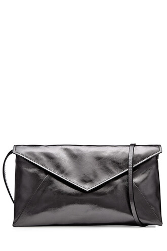 metallic bag shoulder bag leather black