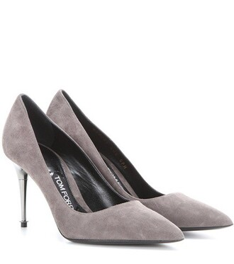 suede pumps pumps suede grey shoes