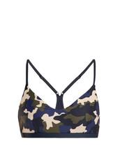 bra,sports bra,camouflage,print,underwear