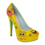 shoes,spongebob,yellow