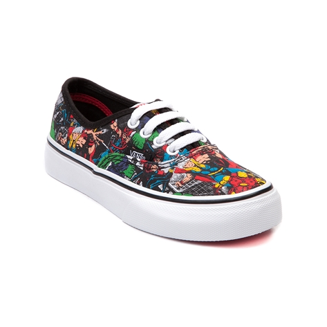 Youth Vans Authentic Avengers Skate Shoe, Black | Journeys Kidz