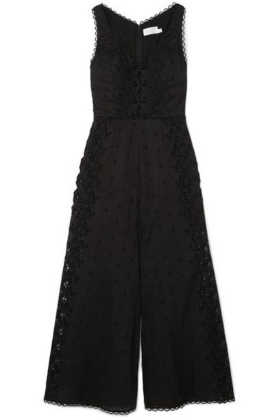 Zimmermann jumpsuit cotton black