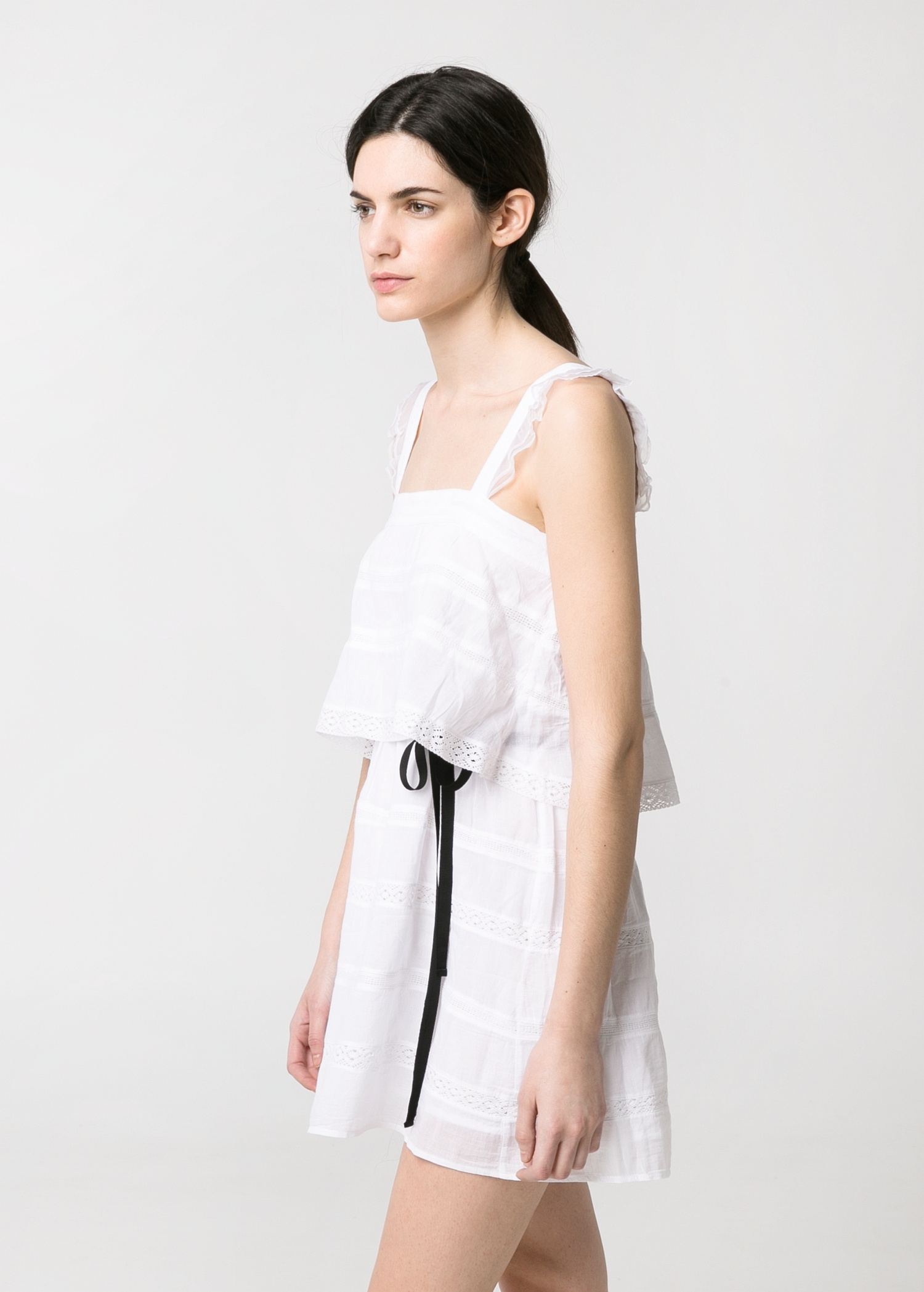 Crochet trim dress - Women | MANGO
