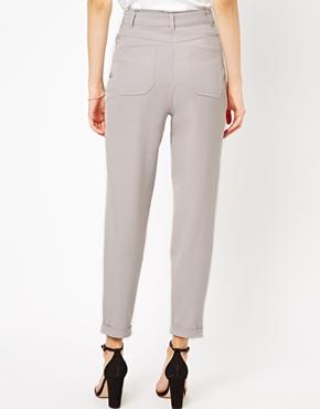 ASOS | ASOS High Waist Peg Trousers at ASOS