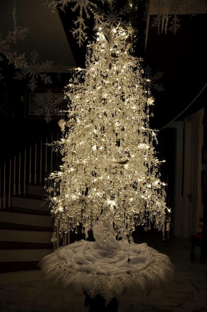 home accessory crystal tree