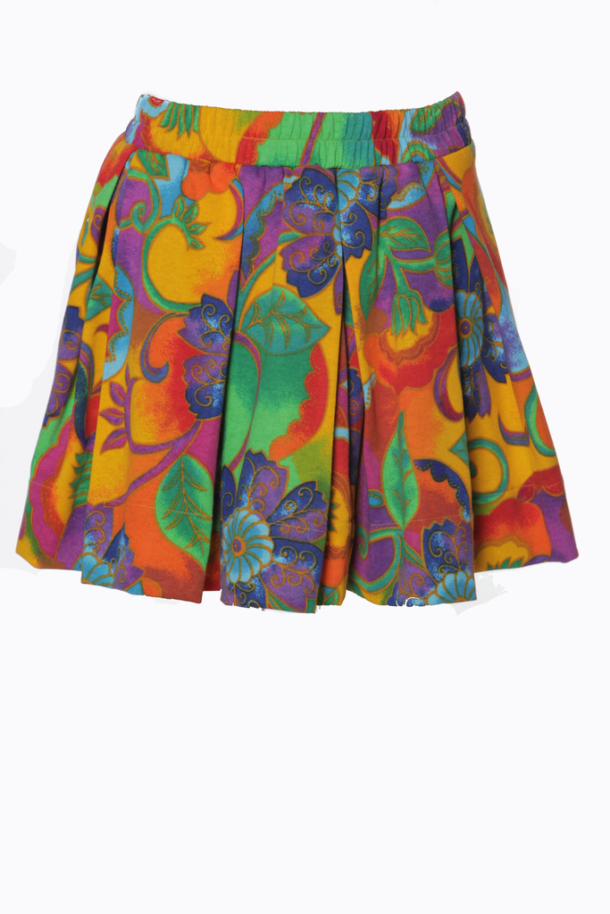 (sample)colorful rosery vine pleaded iammi skirt s/m