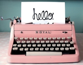 retro pastel pink technology home decor lifestyle home accessory pink typewriter