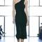 Velvet one shoulder dress by cushnie et ochs | moda operandi