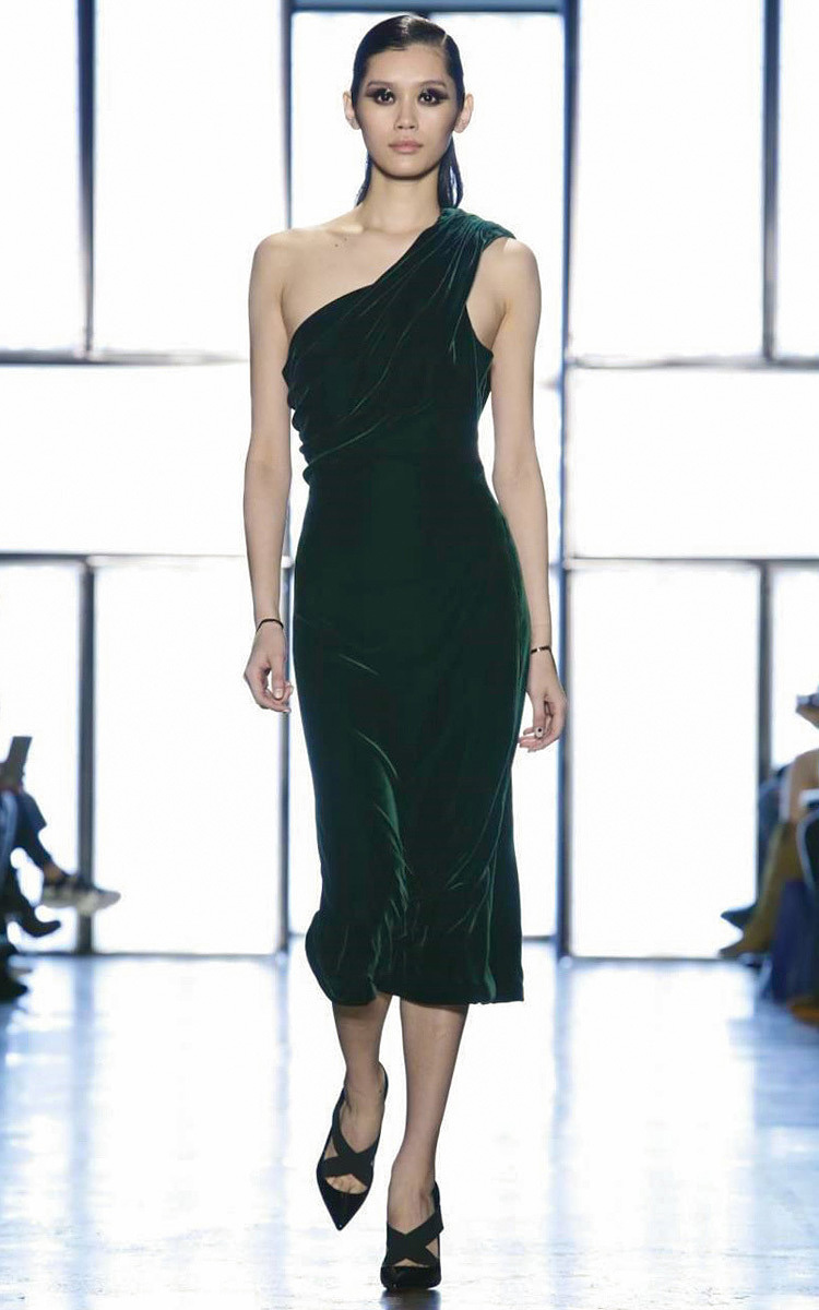 d9ba645da97 Velvet One Shoulder Dress by Cushnie et Ochs | Moda Operandi