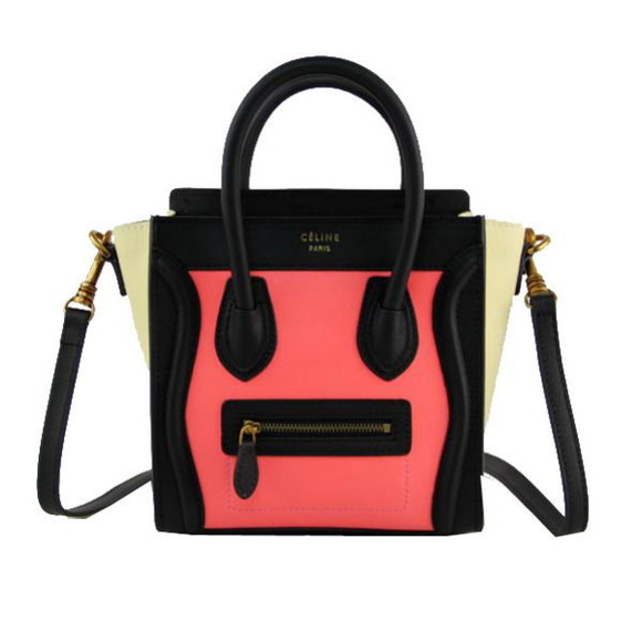 bag celine leather bag coral
