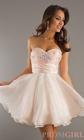 Strapless Party Dresses, Short Strapless Prom Dresses- PromGirl
