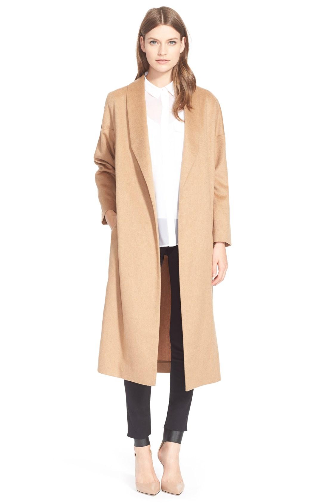 AYR 'The Robe' Camel Hair Maxi Coat