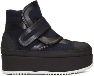 navy black shoes