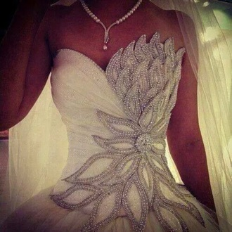 dress wedding dress diamonds