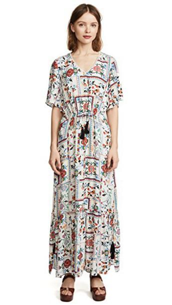 Ella Moon dress maxi dress maxi ruffle patchwork print
