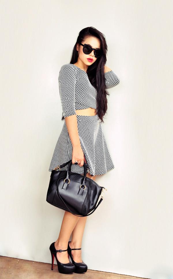 zebratrash skirt bag