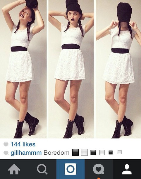 dress white dress white lace dress belt short dress