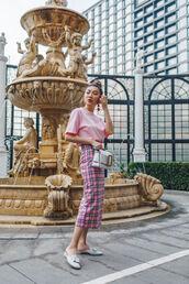 t-shirt,shirt,pants,mules,white mules,bag,white bag,panties,on wednesdays we wear pink t shirt,pink t shirt