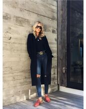 top,jeans,mules,rosie huntington-whiteley,coat,instagram,model off-duty