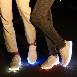Online Shop Hot Sale Cheap Luminous Shoes For Men Glow In The Dark Luminous Sports Sneakers USB Charging LED Shoes White/Black Free Shipping|Aliexpress Mobile