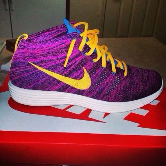 yellow shoes shoes sneakers purple shoes nike nikes custom made custom shoes fresh prince nice shoes omg nike sneakers