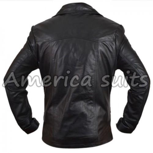 Mens Killing Them Softly Brad Pitt Leather Jacket