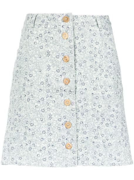 Sissa skirt buttoned skirt women spandex cotton