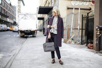 happily grey blogger coat sweater pants bag jewels