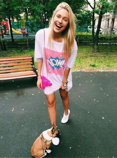 dress outfit idea outfit summer outfits spring outfits t-shirt dress white  tumblr outfit 2d75b9650