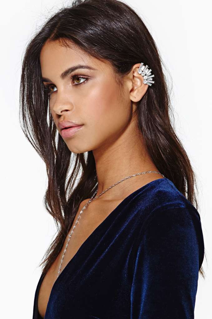 Crystal Sky Ear Cuff in  Accessories Jewelry Earrings at Nasty Gal