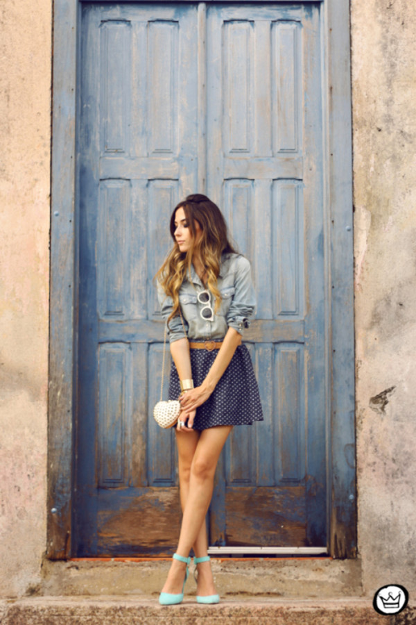 fashion coolture skirt belt shirt sunglasses bag shoes