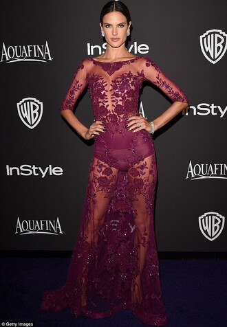 alessandra ambrosio golden globes 2015 after party zuhair murad