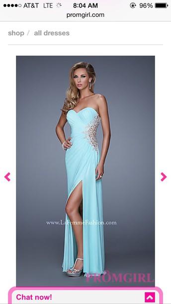 dress prom little blue dress baby blue dress strapless dress